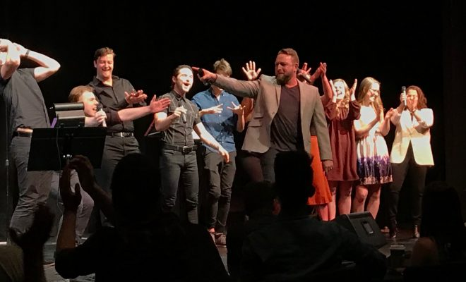Johnny Reid and cast