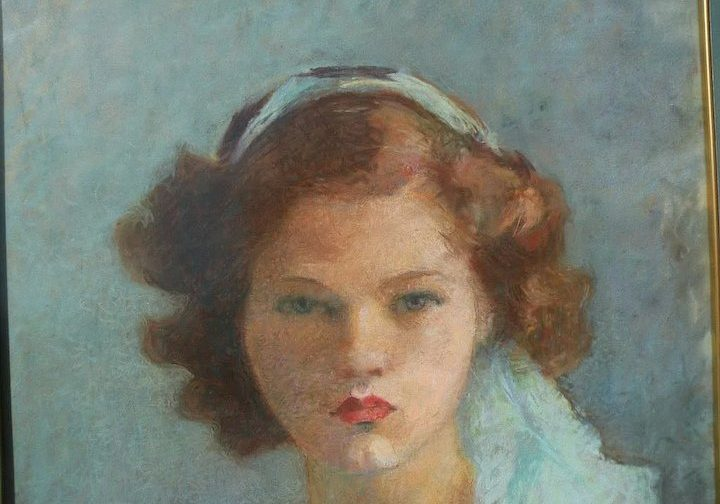 1915 painting of a girl
